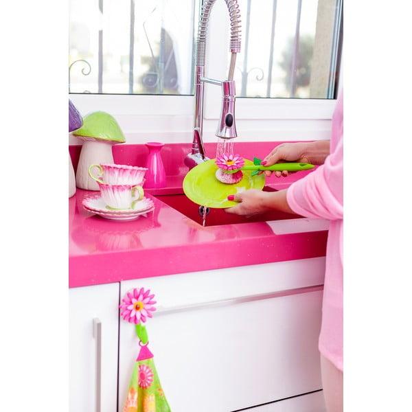 Szczotka do mycia naczyń Vigar Pink Flower