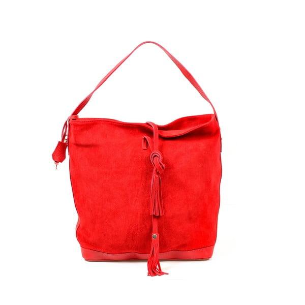 Skórzana torebka Stefie, czerwona