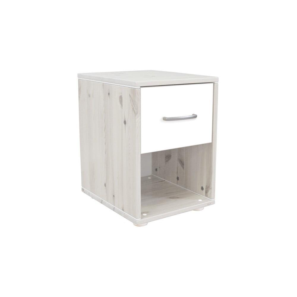 Biała dziecięca szafka nocna z drewna sosnowego Flexa Classic