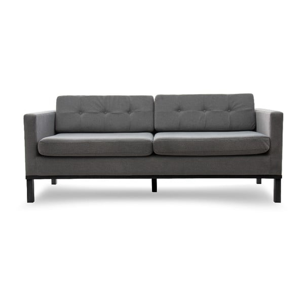 Sofa trzyosobowa VIVONITA Jonan Light Grey, czarne nogi