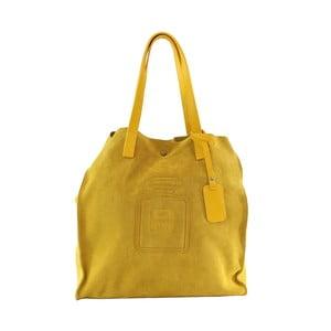 Skórzana torebka Perfume, żółta