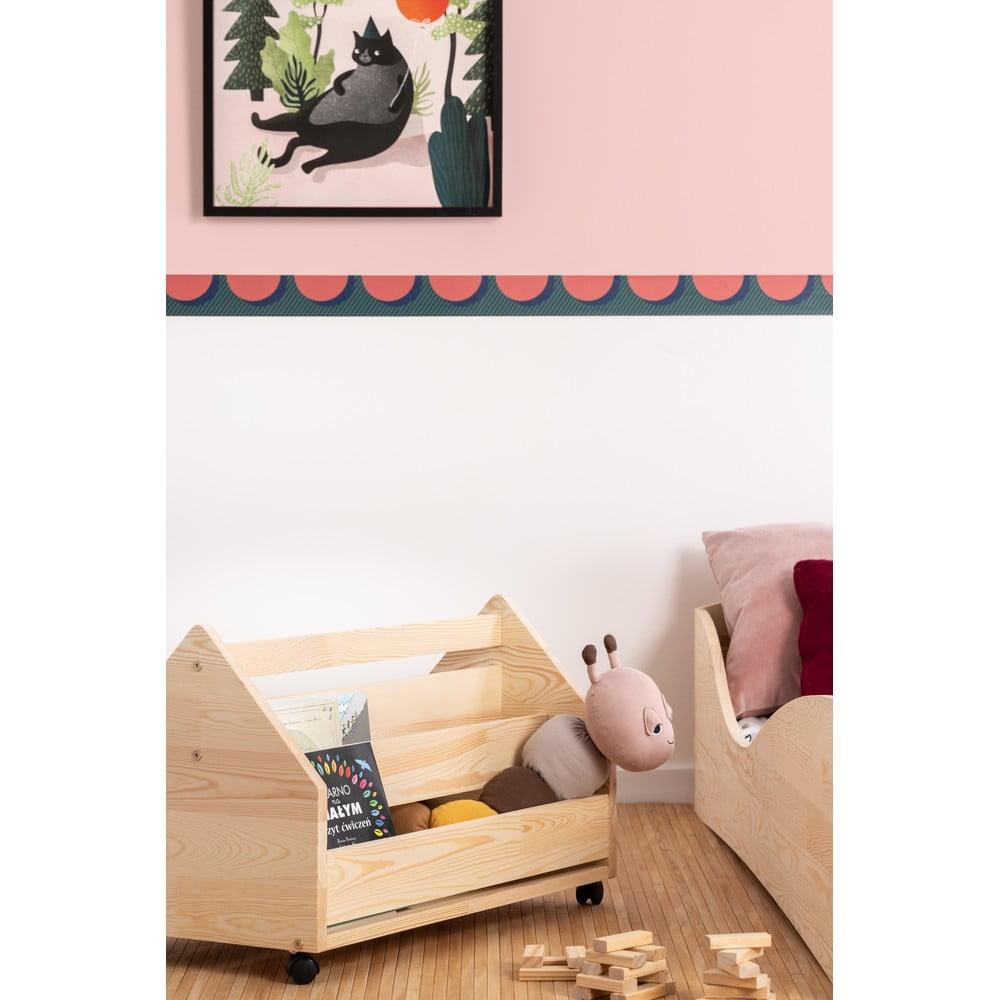 Pojízdný úložný box z drewna sosnowego Adeko Kutu Alma, 60 cm