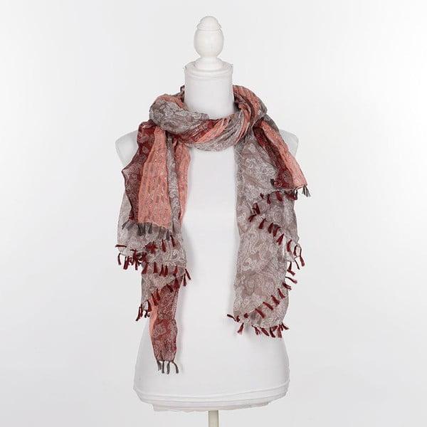 Chusta/pareo BLE Inart 100x180 cm, brązowo-czerwona