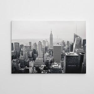 "Obraz na płótnie ""Czarnobiały Manhattan"", 50x70 cm"