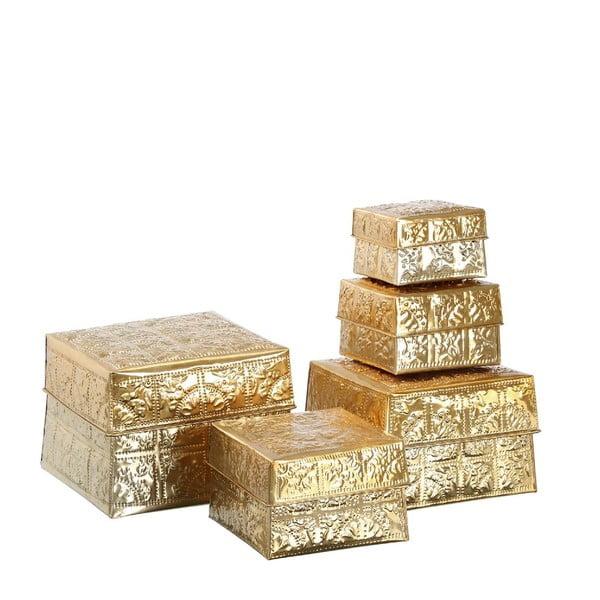 Zestaw 5 pudełek Golden Aluminium