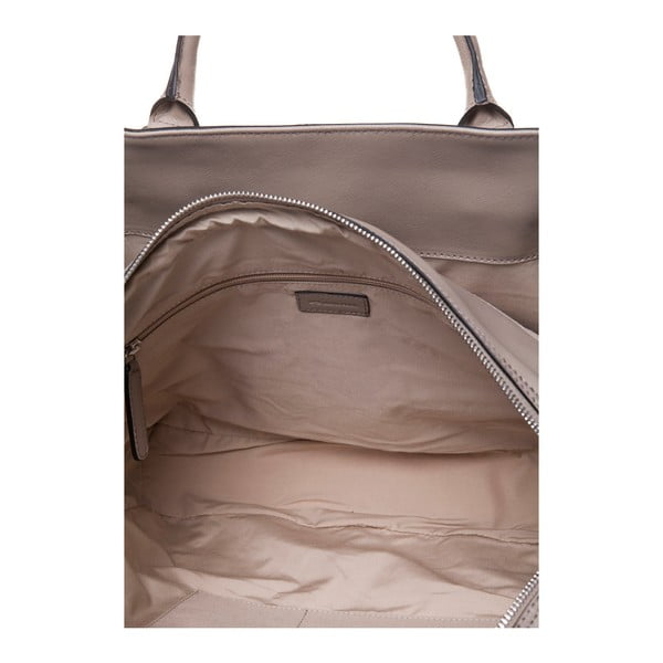 Skórzana torebka do ręki Marta Ponti Sandy, piaskowa