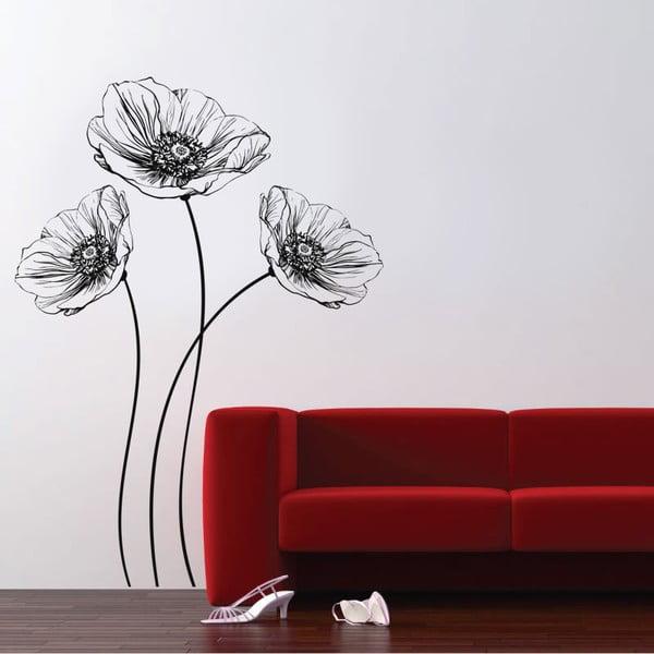 Naklejka ścienna Poppy, 70x50 cm