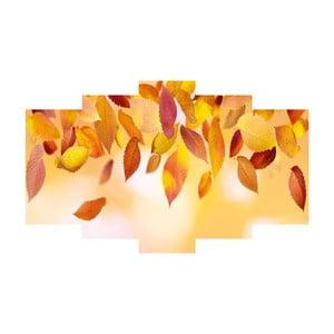 Pięcioczęściowy obraz Leaves