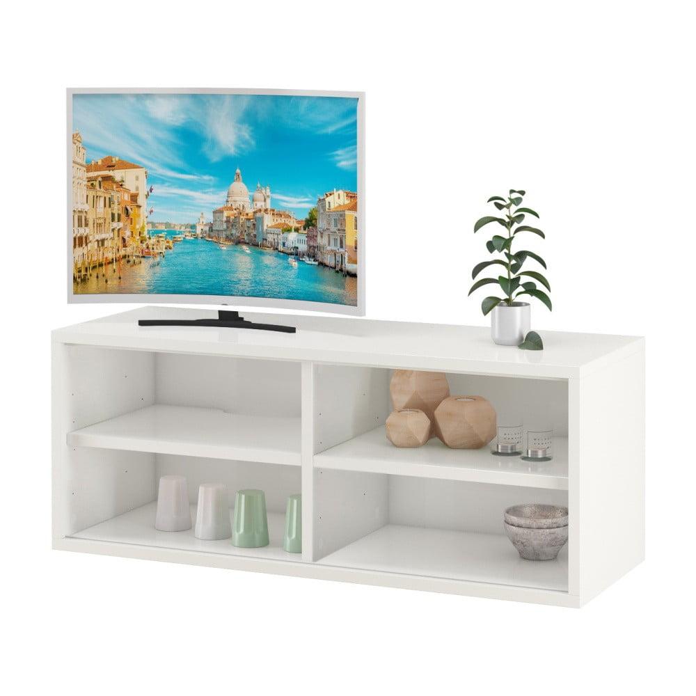 Biała szafka pod TV z 2 półkami Støraa Bertil