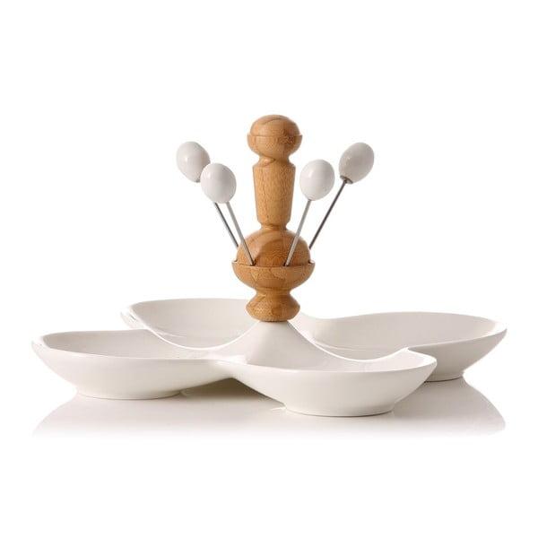 Zestaw 4 misek Estilo z wykałaczkami degustacyjnymi