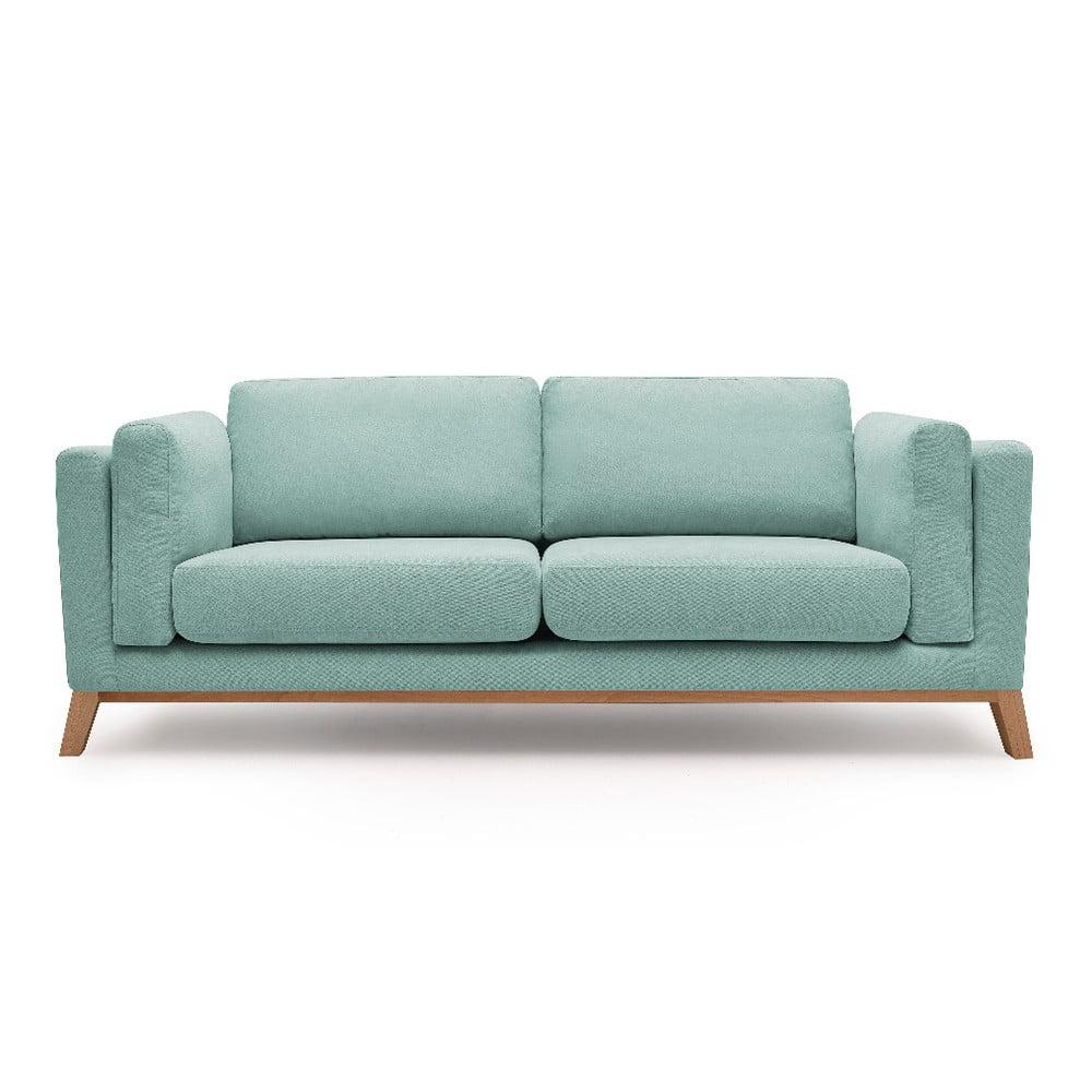 Jasnoniebieska sofa 2-osobowa Bobochic Paris Enjoy