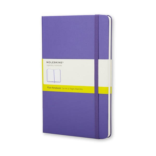 Fioletowy notatnik gładki Moleskine Hard, duży