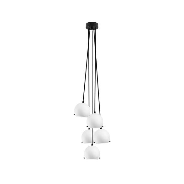 Czarno-biała pięcioczęściowa matowa lampa wisząca Sotto Luce MYOO Elementary 5BS