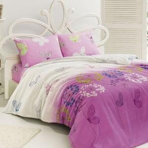 Zestaw pościeli Kelebek Pink, 240x220 cm