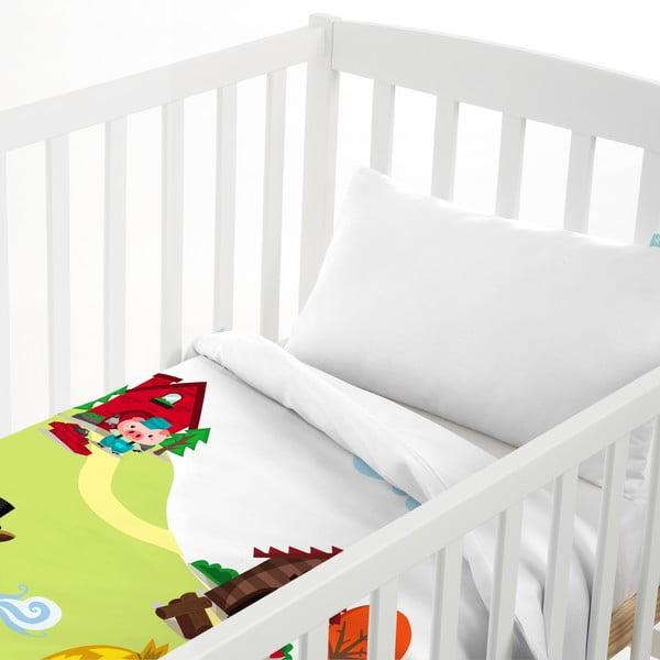 Poszewka na poduszkę i narzuta Mr. Fox Little Pigs, 120x180 cm