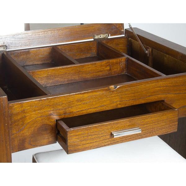 Toaletka ze stołkiem z drewna mindi Santiago Pons Ohio