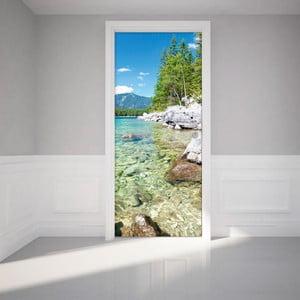 Naklejka   elektrostatyczna na drzwi Ambiance Crystal Lake