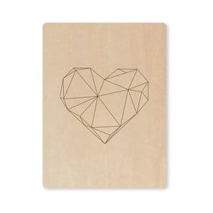 Obraz Artboard Engraved Heart, A7