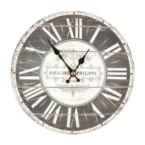 Szary zegar ścienny Clayre & Eef