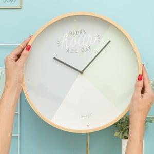 Zegar ścienny Mr. Wonderful Happy hour all day, średnica 35 cm