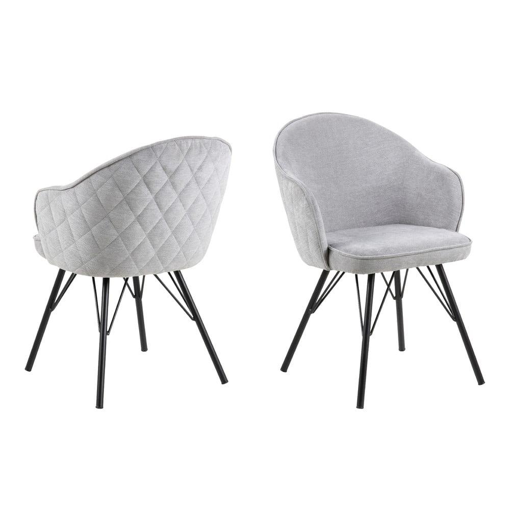 Jasnoszare krzesło do jadalni Actona Mitzie