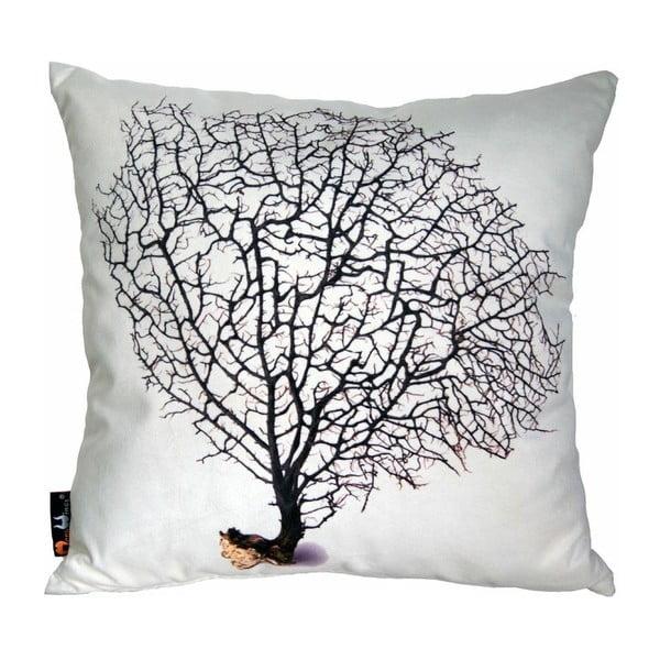 Poduszka Black Coral on Cream, 45x45 cm