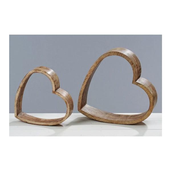 Dekoracja Wood Heart, 2 szt.