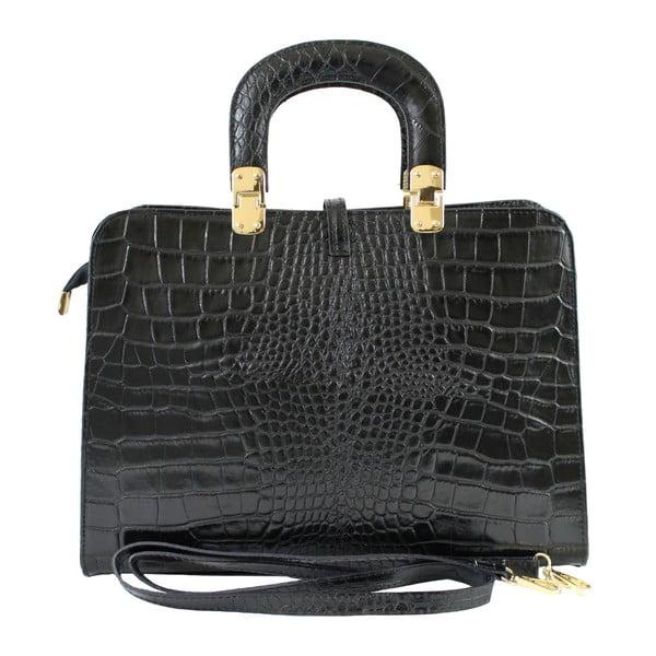 Czarna skórzana torebka Lady