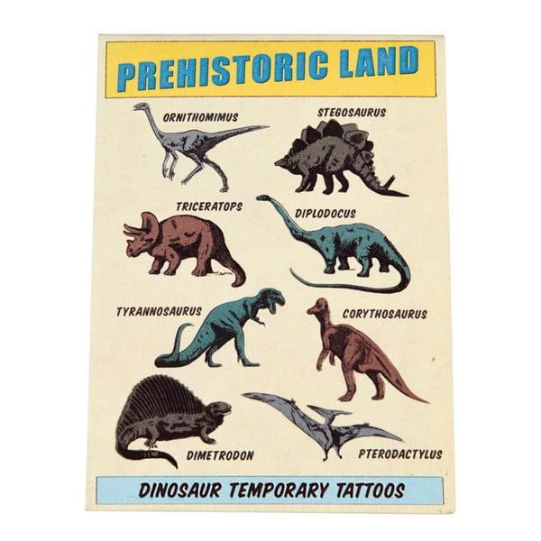 Zestaw 2 arkuszy ze zmywalnymi tatuażami Rex London Prehistoric Land