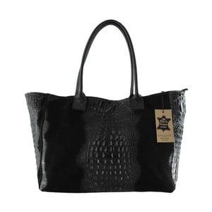 Czarna torebka skórzana Signore
