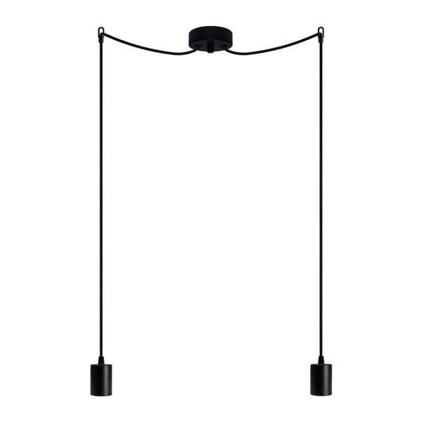 Lampa wisząca podwójna Cero, czarny/czarny/czarny