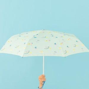 Miętowa parasolka Mr. Wonderful Cloudy, szer. 108 cm