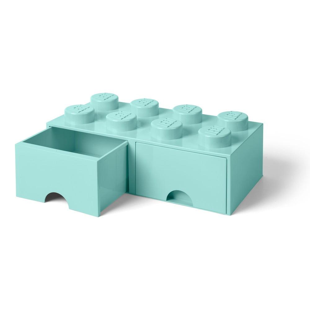 Miętowy pojemnik z 2 szufladami LEGO®