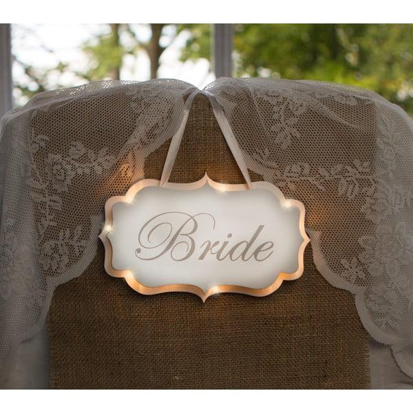 Dekoracja ślubna z lampką LED Bride