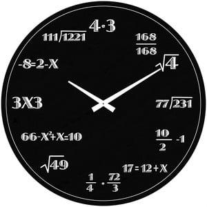 Szklany zegar Matematyka, 38 cm