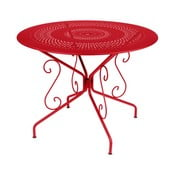 Makowy stół metalowy Fermob Montmartre, Ø 96 cm