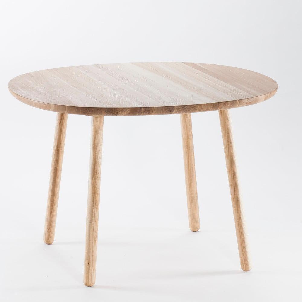 Naturalny stół do jadalni z litego drewna EMKO Naïve, 110 cm