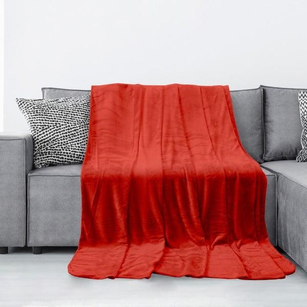 Czerwony koc z mikrowłókna AmeliaHome Tyler, 150x200 cm