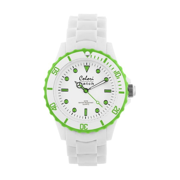 Zegarek Colori 40 White/Lime Green