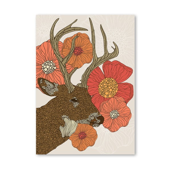 "Plakat ""My Dear Deer"", Valentina Ramos"