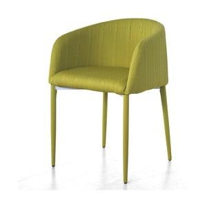 Krzesło z podłokietnikami Prima, zielone