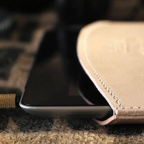 Skórzane etui na iPad Cream