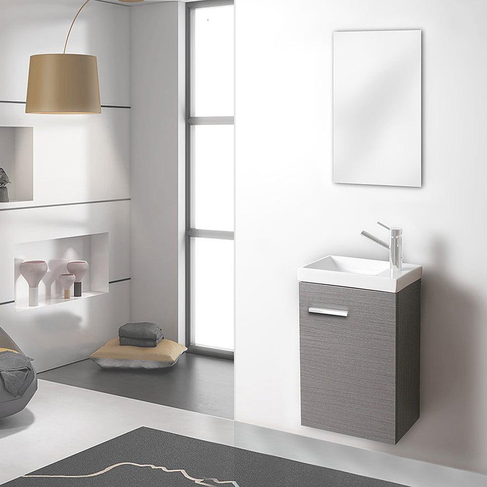 Szafka Do łazienki Z Umywalką I Lustrem Kai Odcień Szarości 40 Cm Bonami