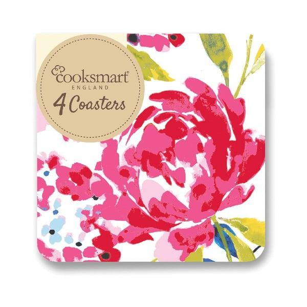 Zestaw 4 podkładek Cooksmart England Floral Romance