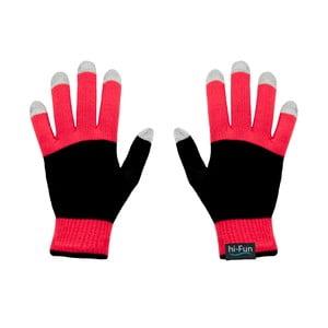 Rękawiczki dotykowe Hi-Glove, czerwone