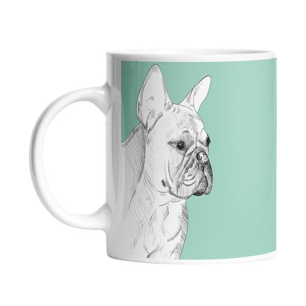 Ceramiczny kubek Butter Kings Pencil Bulldog, 330 ml