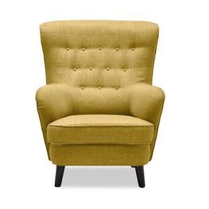 Żółty fotel Vivonita Fifties