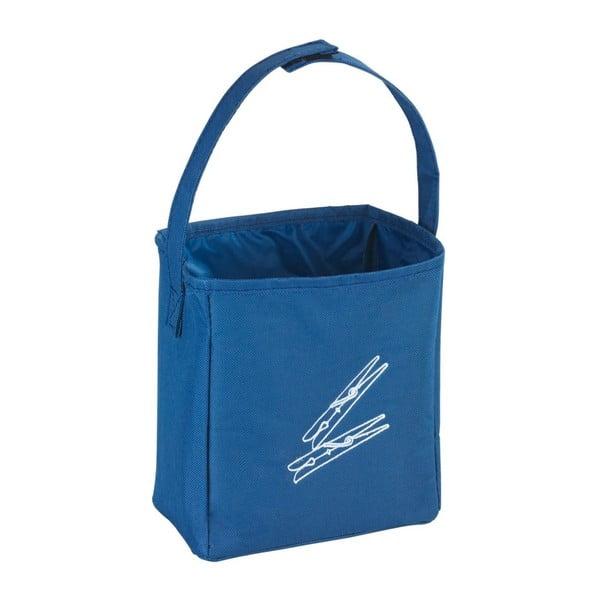 Niebieski koszyk do zawieszenia na spinacze Wenko Peg