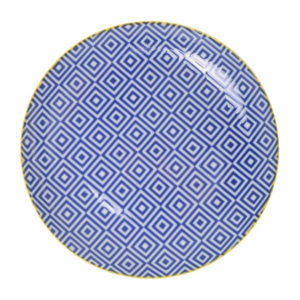 Porcelanowy talerz Geometric No3, 16x2,1 cm