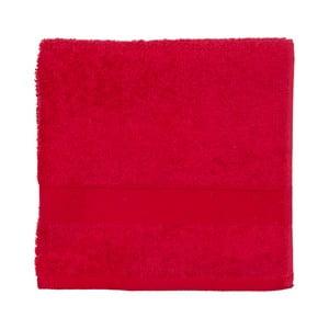 Czerwony ręcznik frotte Walra Frottier, 50x100cm